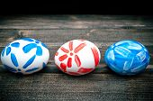pic of easter basket  - Easter eggs lying in a basket - JPG