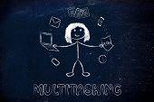 foto of multitasking  - productivity and multitasking - JPG