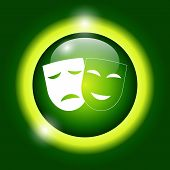 picture of sadness  - Theater icon with happy and sad masks - JPG