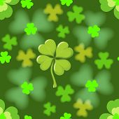 picture of four leaf clover  - Seamless texture of the four leaf clover - JPG