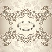 picture of vintage jewelry  - Vintage background with seamless pattern in pearly beige colors for invitation or congratulation or for package perfumer - JPG