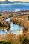 stock photo of orbs  - View from Beziers to the river Orb  - JPG