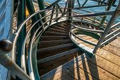 picture of stairway  - Looking down from above a circular stairway - JPG