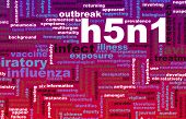 stock photo of avian flu  - H5N1 Concept as a Medical Research Topic - JPG