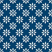 pic of indigo  - Hand drawn seamless blue and white indigo pattern - JPG
