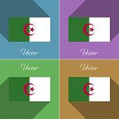 stock photo of algeria  - Flags of Algeria - JPG