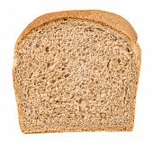 pic of whole-wheat  - Whole wheat sandwich bread isolated on white with clipping path - JPG