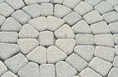 stock photo of paving stone  - Grey Stone pavement pattern background - JPG