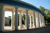 Architectural Columns In Round Form In Kiev, Ukraine poster