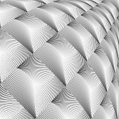 image of uncolored  - Design diamond convex texture - JPG