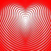 foto of twist  - Design heart twisting movement illusion background - JPG