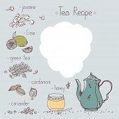 foto of recipe card  - jasmine tea recipe template - JPG
