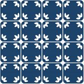 picture of indigo  - Indigo and white seamless delft pattern - JPG