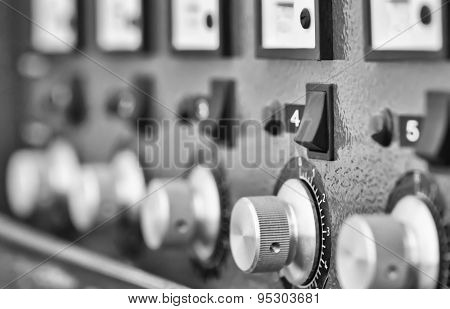 Instrument Panel . Black And White