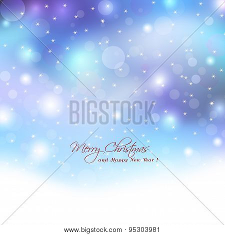 Christmas Background With Boket Lights.abstract Elegant Lights With Boket Lights And Stars