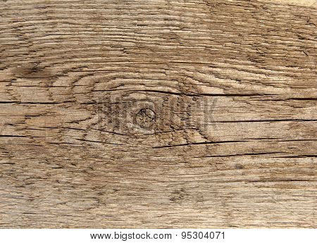 Old Knotted Wood Plank
