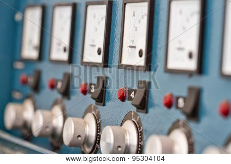 Instrument Panel With Circuit Breakers And Switches