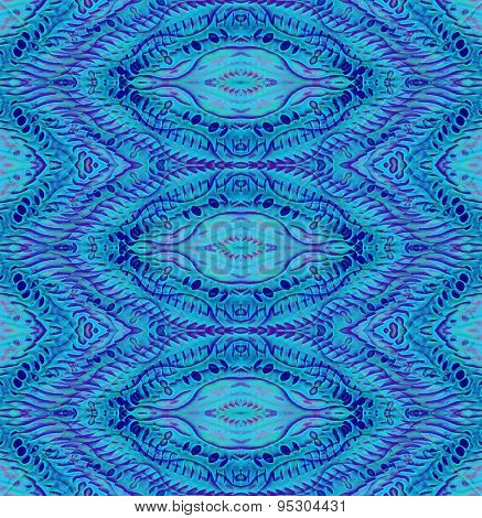 Seamless pattern turquoise violet