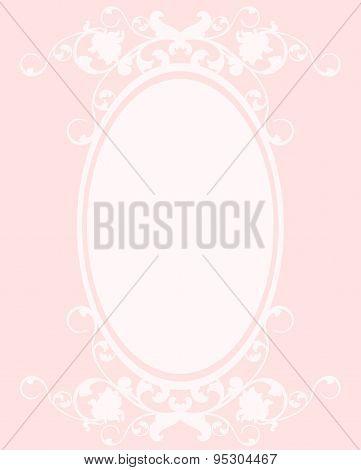 Oval Pink Frame