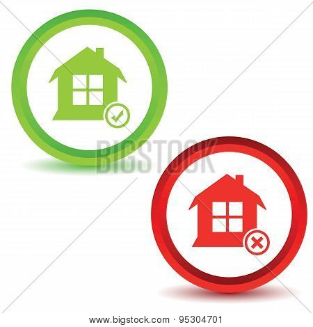 Two house manage icons