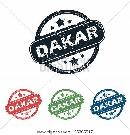 Round Dakar city stamp set