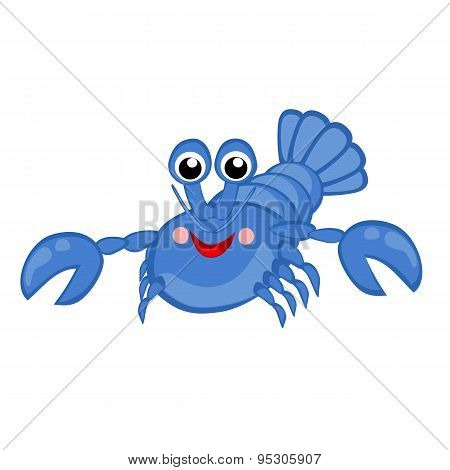 Blue lobster vector illustration