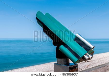 Public Telescope At Seaside
