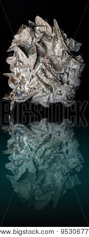 Desert Rose Rock Water Reflection