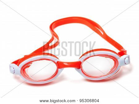 Goggles For Swimming On White Background