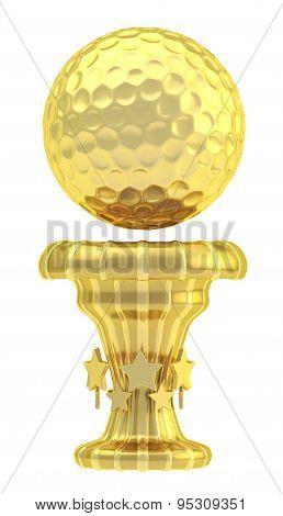 Award golf ball sport trophy cup