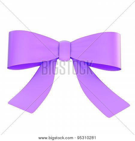 Decorational ribbon bow isolated