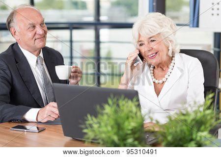 Senior Businesswoman Talking On Mobilephone