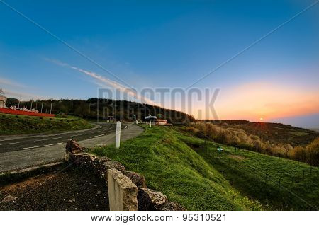 Sun Is Rising Under The Hill, Beaujolais, France