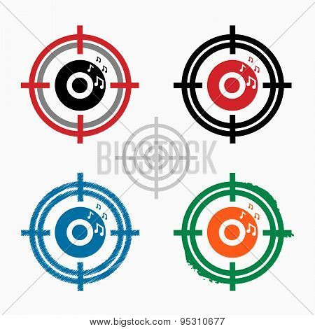 Cd Icon On Target Icons Background