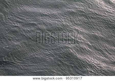 Unusual Wave Ripples On Water Cold Arctic Sea
