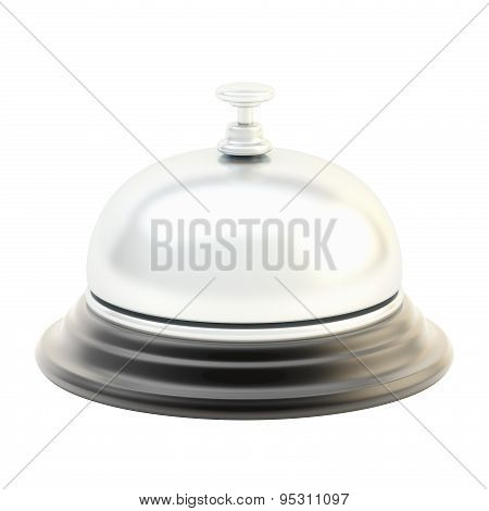 Hotel reception bell isolated