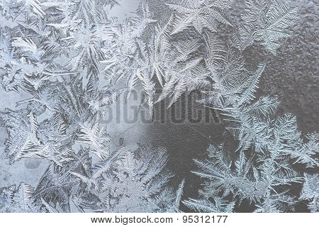 Pattern On Frozen Window