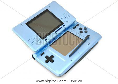 Blaue Computerspiel