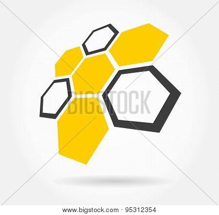 Honeycomb logo. Honey.