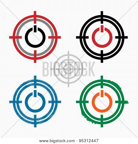 Power Pointer On Target Icons Background
