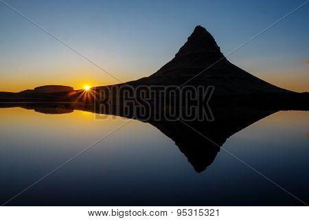Sunset at Mount Kirkjufell