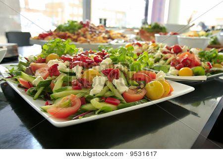 Dish of salad