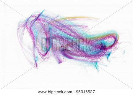 lights fiber optic white background