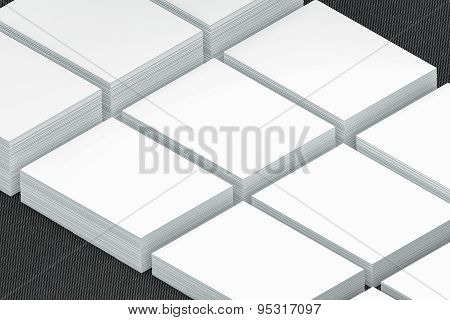 Many Cards Stack Of Paper Template To Presentation