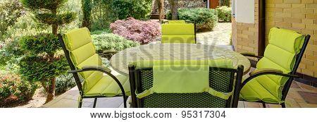 Verandah With Garden Furniture