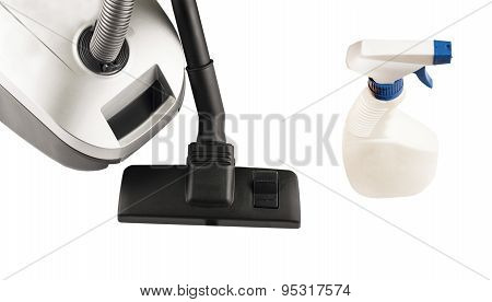 Hoover And Spray For Cleaning
