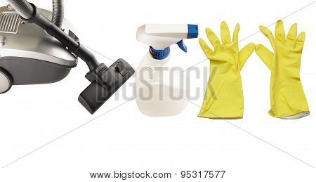 Hoover And Miscellaneous Equipment For Cleaning