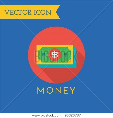 Money Icons Vector Set. Shop, money or commerce and mobile symbols. Stocks design element.