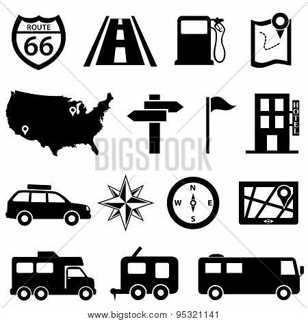 Road Trip Icon Set