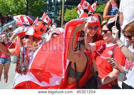 Canadian fans arrive to BC Place